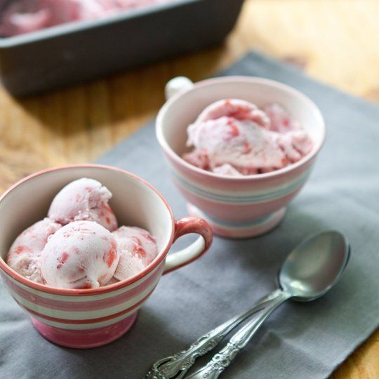 Recipe: Vegan Strawberry Swirl Ice Cream Recipes from The Kitchn | The ...