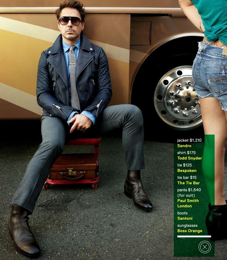 Robert Downey JR #GQ | Mens Fashion. Man up!!!! | Pinterest Robert Downey