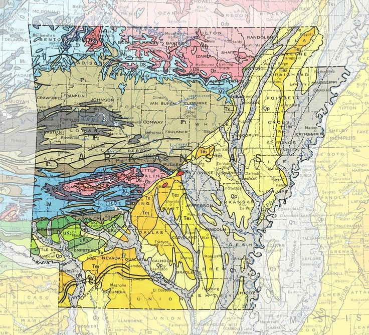 Arkansas Geologic Map  Arkansas  Pinterest