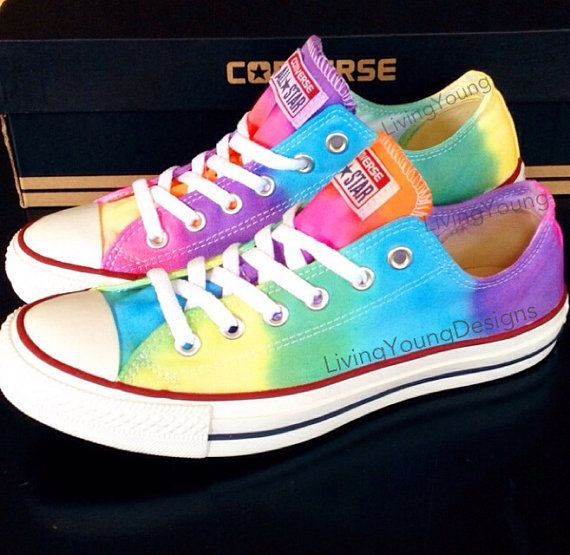 Tie Dye Converse #tie #dye #converse #shoes #custom #sneakers #christmas #gift $85