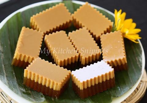 Agar Agar Santan & Gula Melaka (Coconut Milk & Palm Sugar Jelly)
