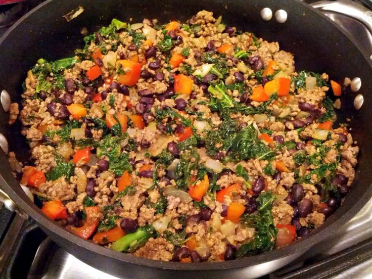 Kale and Ground Beef/Turkey Taco Filling | Real Food (Hold the Proces ...