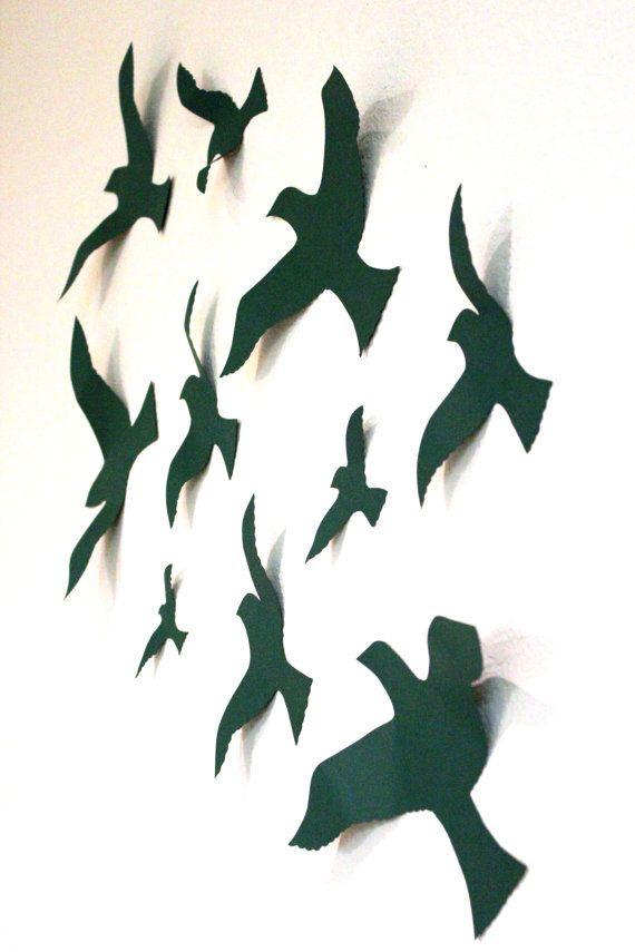 3d Wall Decor Birds : Birds d wall decor bird art nursery boys by