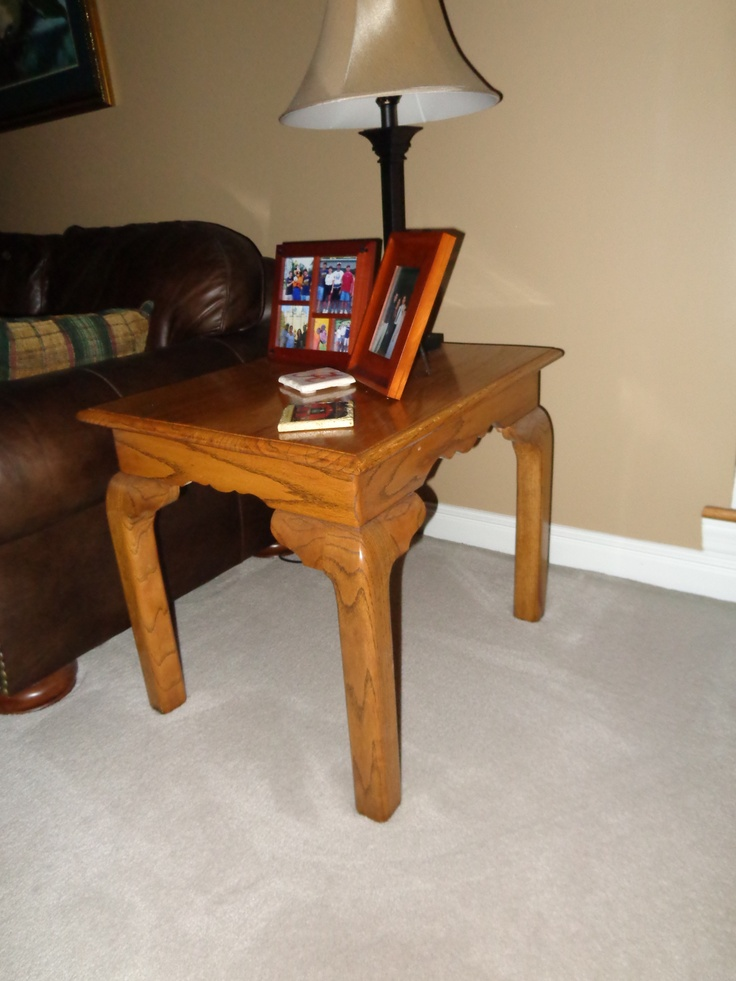 Oak end table | My Woodworking Projects | Pinterest
