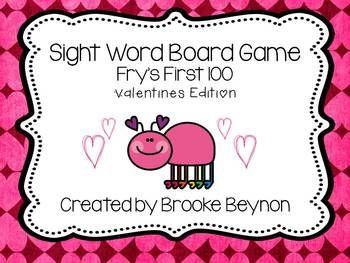 valentine's day sight words worksheet