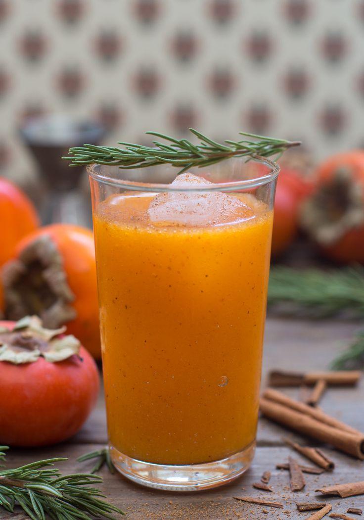 Persimmon & Rosemary Margarita | Food to veganize ... | Pinterest