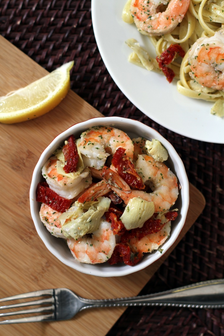 Shrimp Scampi With Artichokes Recipe — Dishmaps