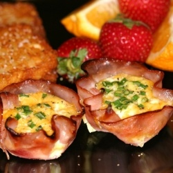Ham Cups - A super easy way to make everyone's eggs come out at the same time and customize for different tastes.
