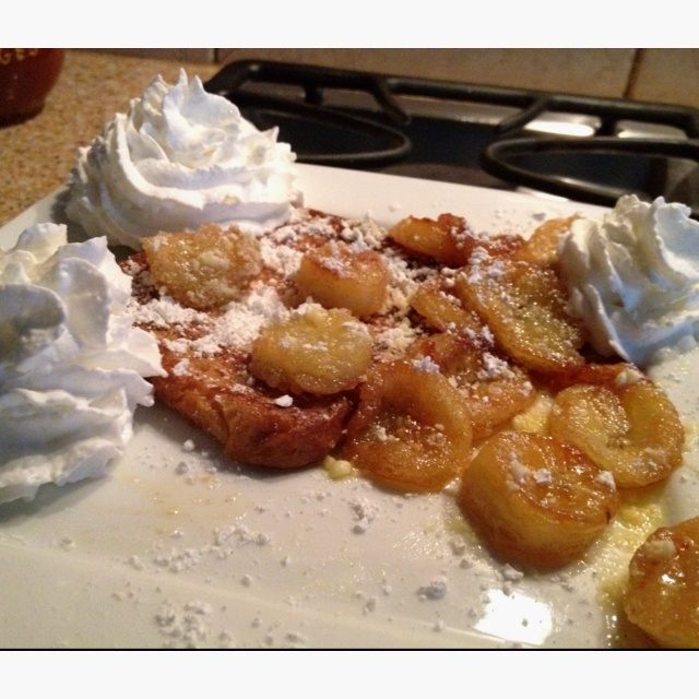 Foster (: - Sautéed bananas in sugar/butter mixture -French Toast ...