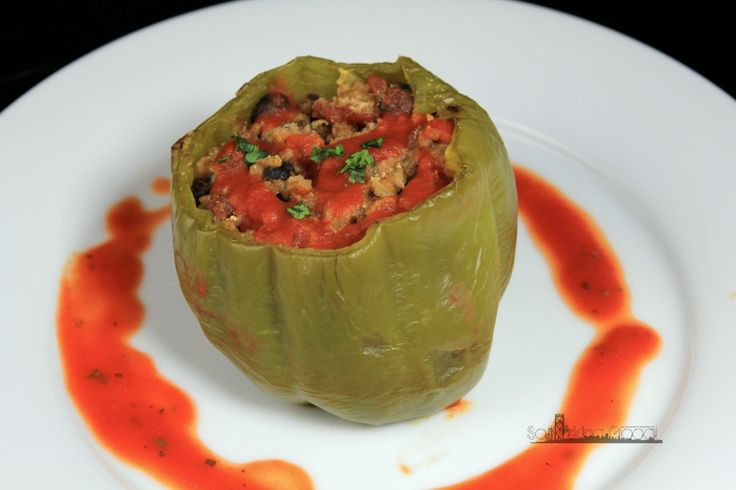 Vegetarian Stuffed Peppers - My project for this week, inspired by the ...