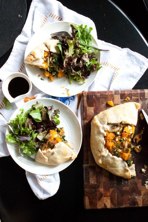 galette recipe on food52 roasted butternut squash and garlic galette ...