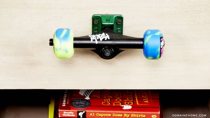 10 Skateboard-inspired spaces with major cool factor // Skateboard wheel drawer-knob #decor
