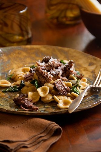 Cabernet Braised Short Ribs with Swiss Chard and Orecchiette for Dumm ...