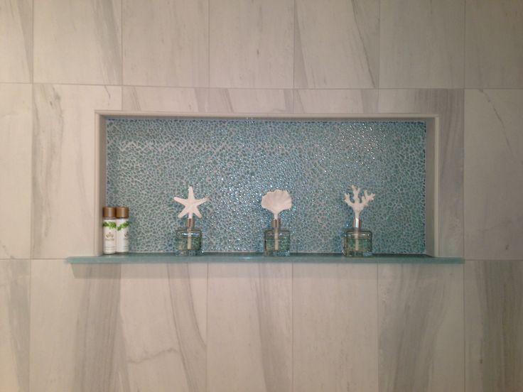 recessed shower shelf with tile backing my style pinterest. Black Bedroom Furniture Sets. Home Design Ideas