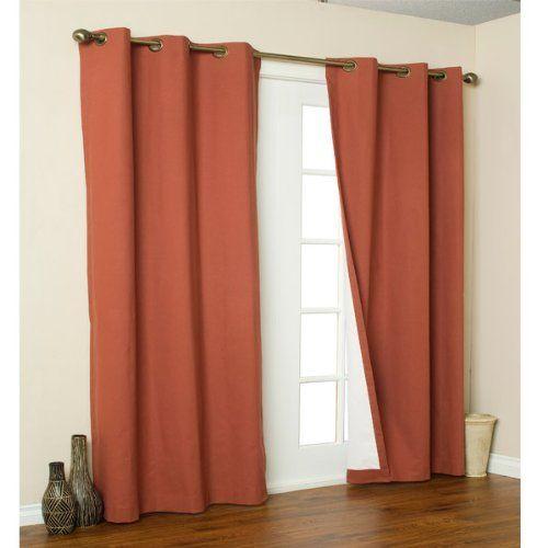 """Door Grommet Curtains, 84"""" L x 160"""" W by Gardener's Supply. $54 ..."""