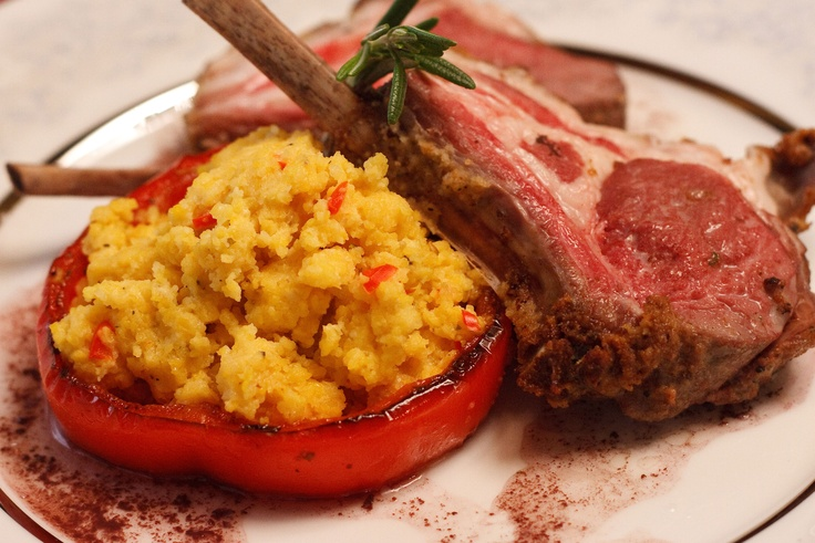Polenta Stuffed Bell Pepper Cup. Just one of the great recipes from ...