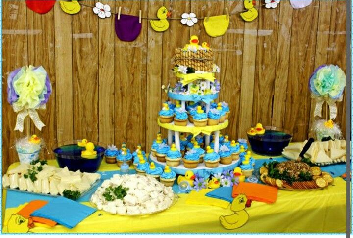 rubber ducky themed baby shower party ideas pinterest