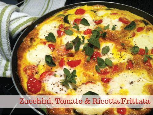 YUM. Zucchini, tomato & ricotta frittata | Dinner Party Anyone? | Pin ...