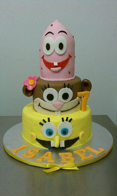 Isabel's Spongebob theme Cake by Little Sugar Bake Shop, via Flickr