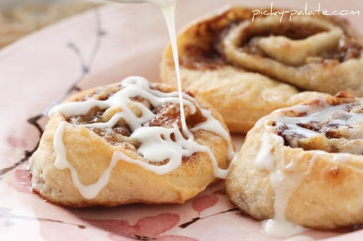 Roasted banana cinnamon rolls :). I'm falling in love with this site ...