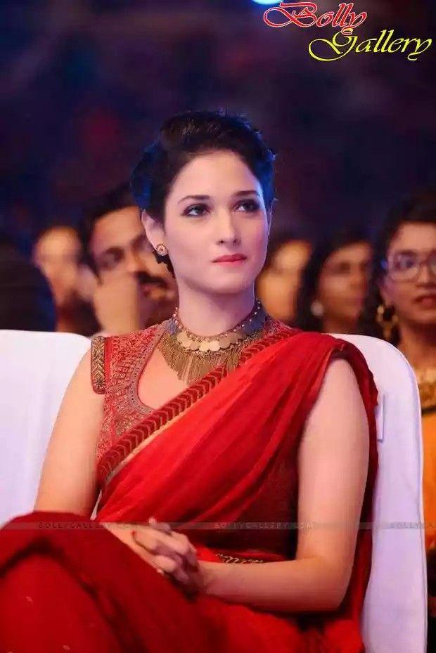 Tamanna Bhatia in red Saree looks like an angel   Celebs ...