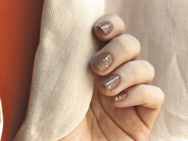 sparkly nude