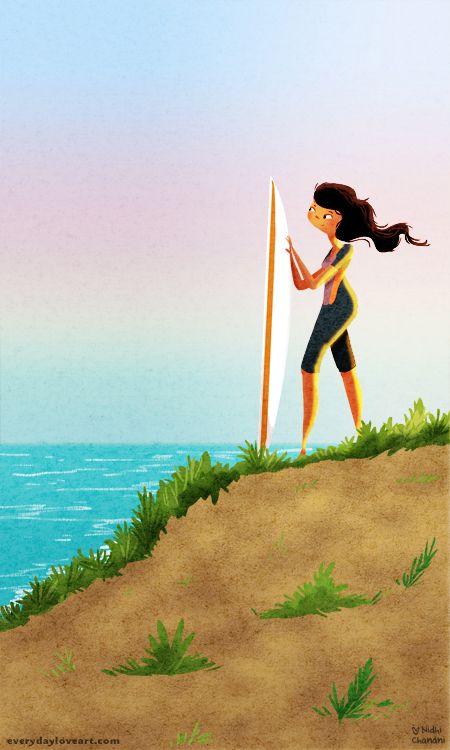 the surf rider by ittybittynidhi.deviantart.com on @deviantART