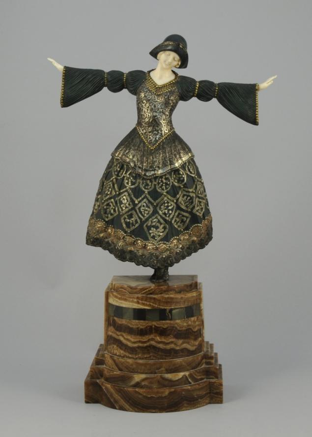 Démeter Chiparus (Dorohoi, 1886 - Bagneux, 1947) Danseuse, circa 1925