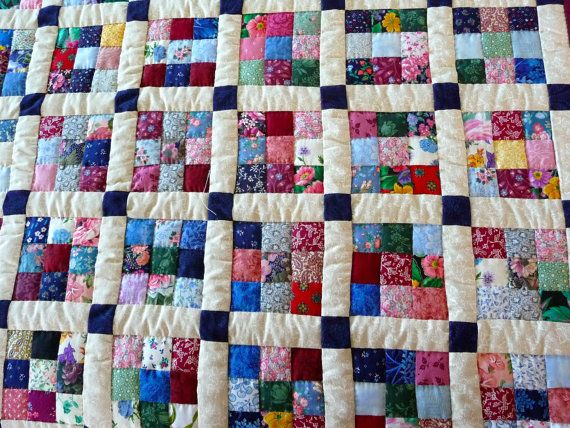 New Amish Quilt - Postage Stamp Pattern