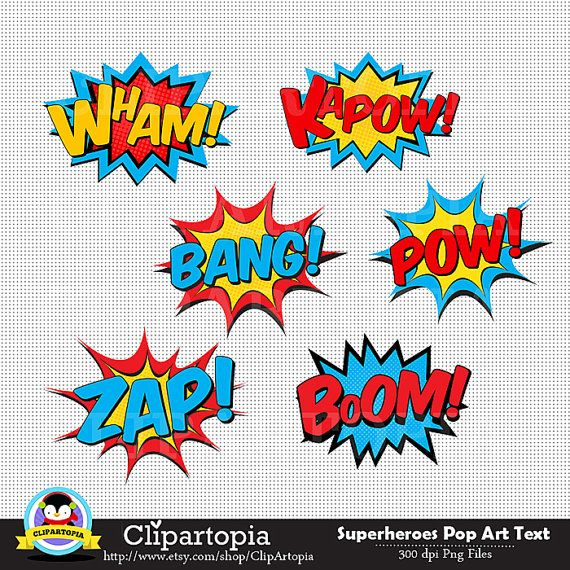 Superhero Pop Art Clipart 50 Off Sale Superheroes
