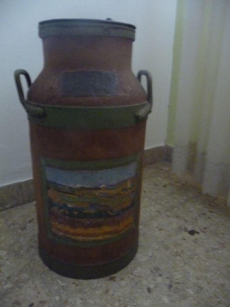 Tarro lechero patinado | Mis trabajos de pintura y decoración | Pinte ...: pinterest.com/pin/380765343466942850