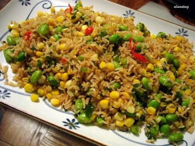 Brown Rice fried rice with edamame #glutenfree #dairyfree #vegetarian ...