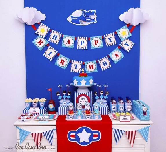 Air force airplane birthday party airplane party for Air force decoration