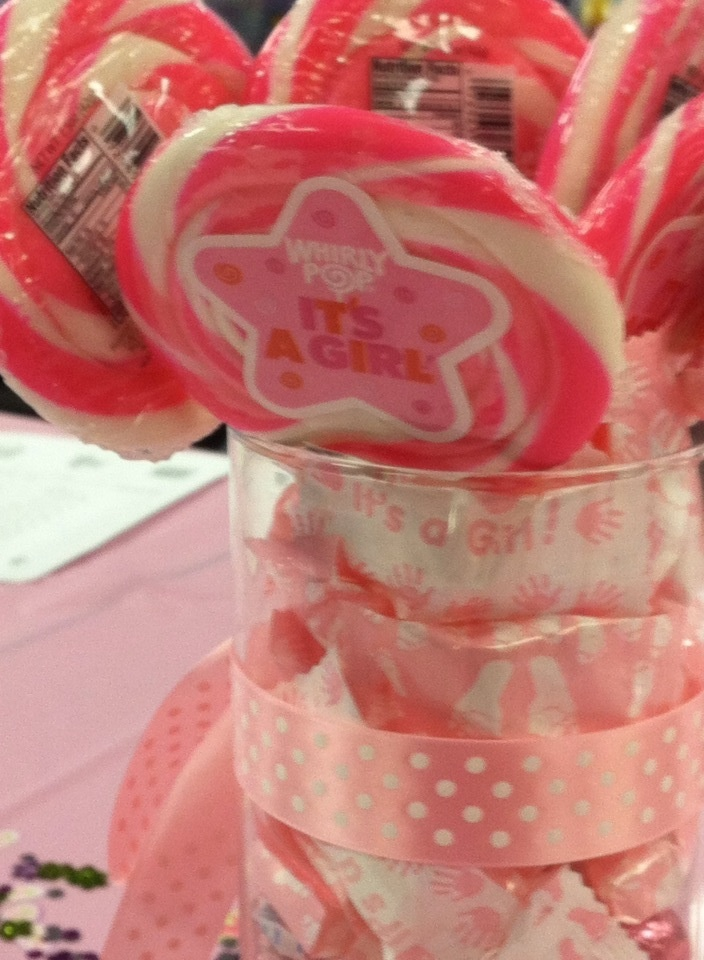 Candy office baby shower centerpiece party planning and