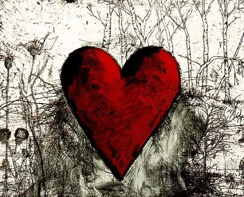 Jim Dine  Just discovered an artist that I can use as inspiration for a kindergarten art lesson.