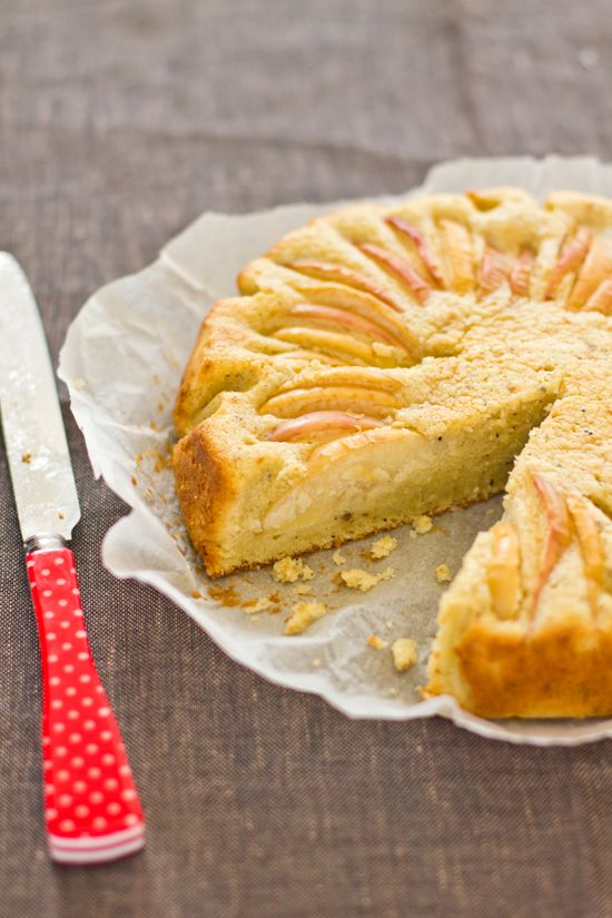 apple cardamom cake.
