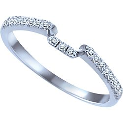 Ben Moss Jewellers 0.15 Carat TW, 14k White Gold Wedding Band, Size 8 ...