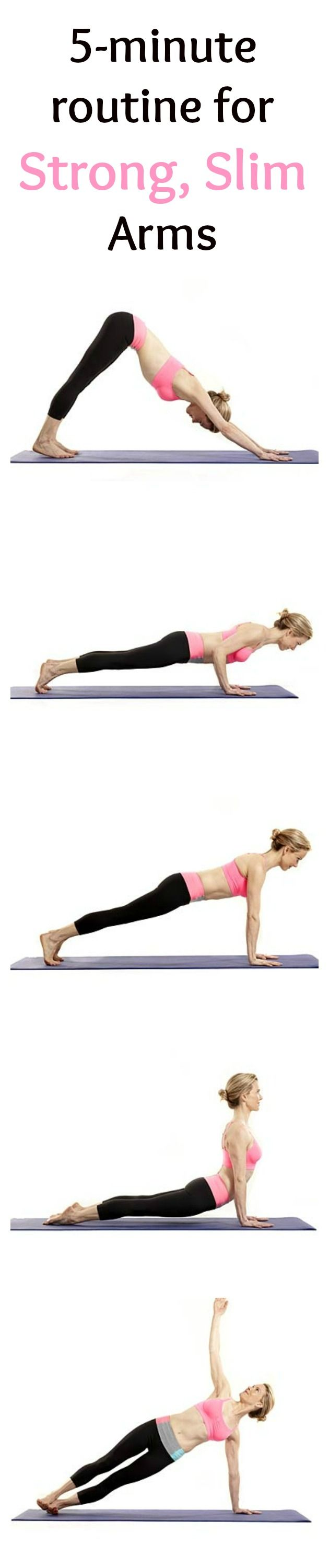 Tone arms with quick yoga workout.