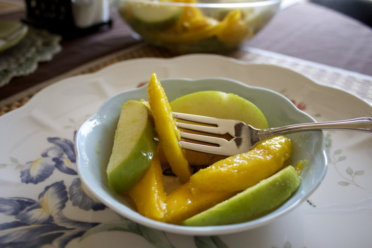 Mango Apple Salad with Sugared Lime Zest | Recipe