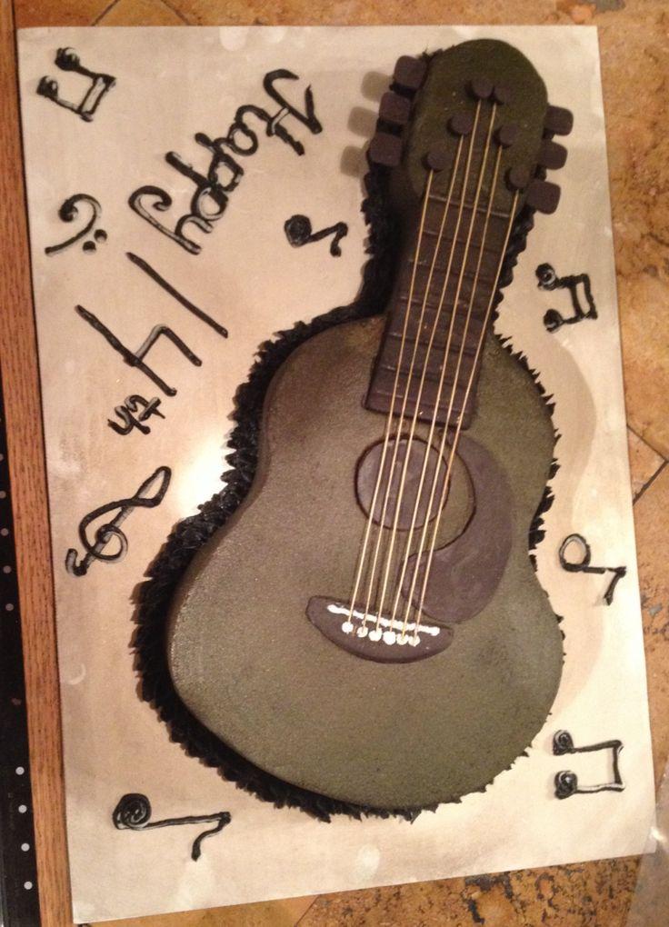 Acoustic guitar cake ideas 14955 acoustic guitar cake cake for Acoustic guitar decoration ideas
