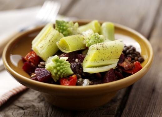 ... Puy Lentil Salad with Balsamic Leeks Recipe : Cook Vegetarian Magazine
