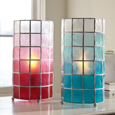 Faceted capiz table lamp pbteen teen rooms pinterest - Table lamps for teens ...