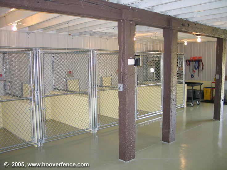 Indoor kennels finished garage pinterest for Dog kennel in garage ideas