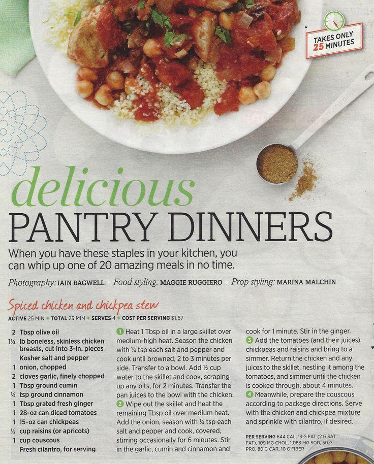 Chickpea & chicken stew | Dinner is served! | Pinterest