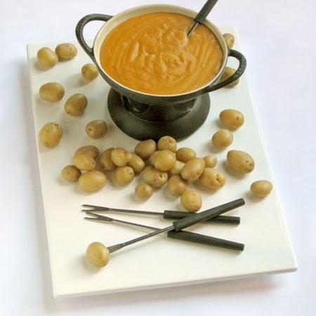 Farmhouse Cheddar and Irish Stout Fondue with New Potatoes