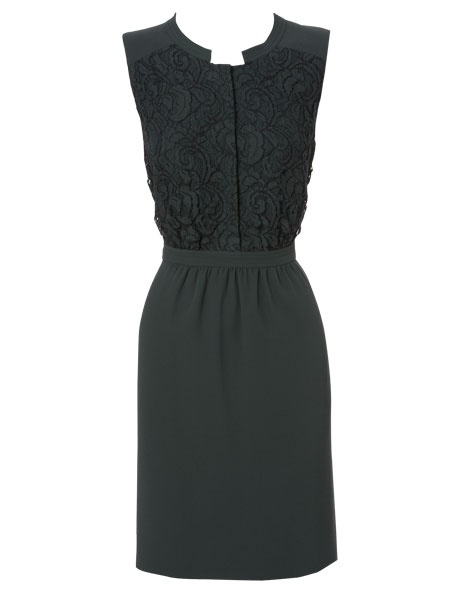 ... Brunsdon Black Label | Forest Green Lace Insert Dress | Myer Online