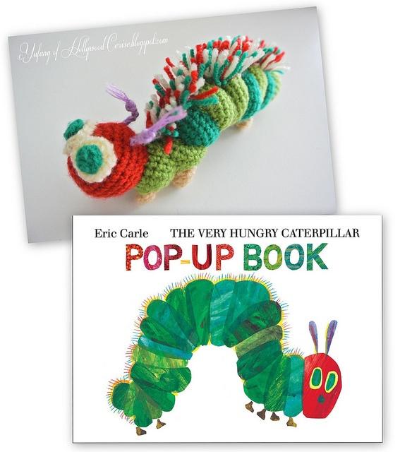 Free Crochet Pattern Very Hungry Caterpillar : Free pattern: hungry caterpillar Crochet Pinterest
