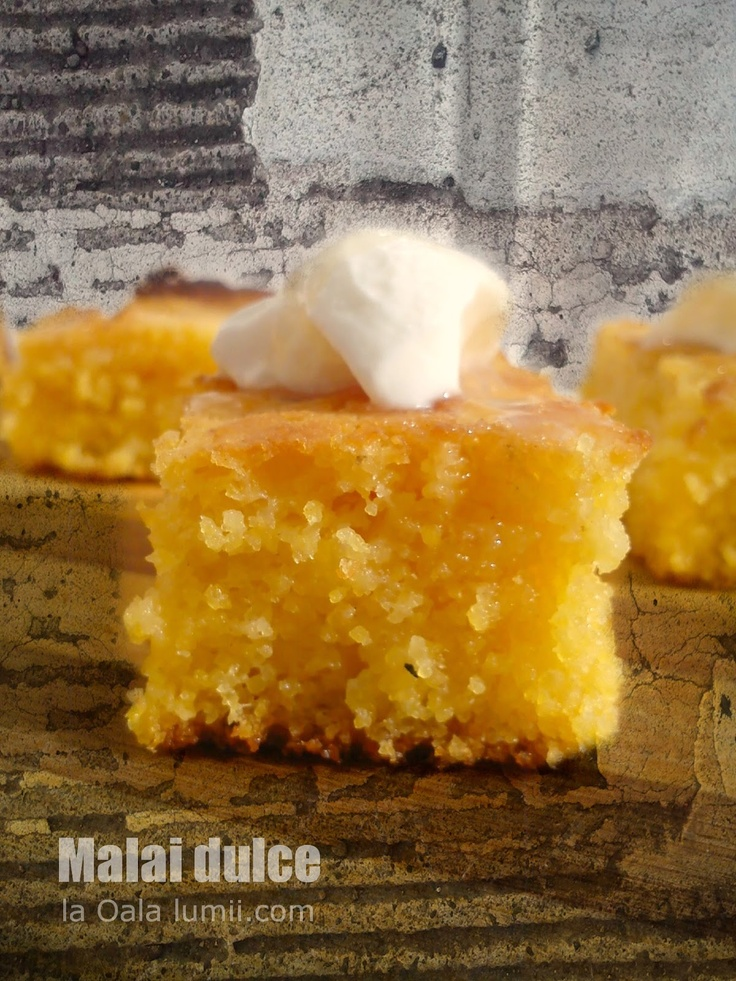 """""""Malai dulce""""(sweet corn)  -a cake made from corn flour"""
