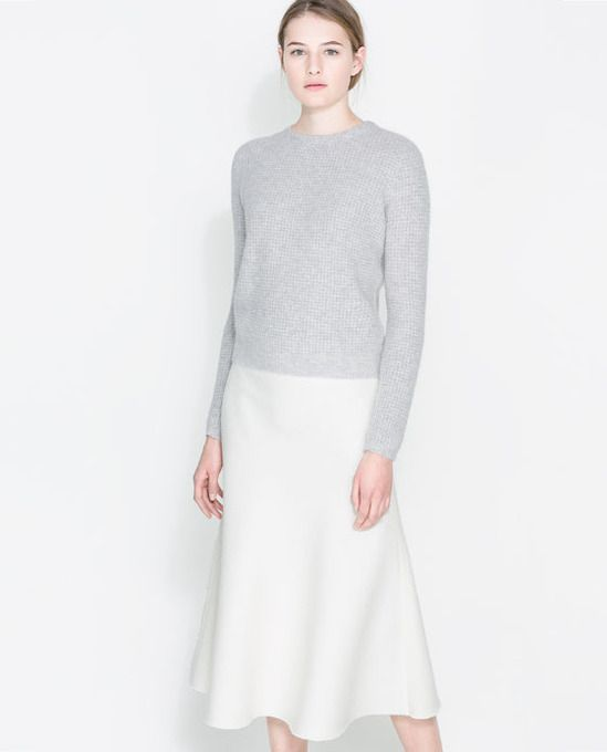 Angora Sweater With Zip by Zara