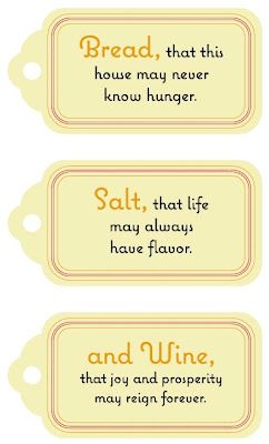 Housewarming gift tags - how clever!